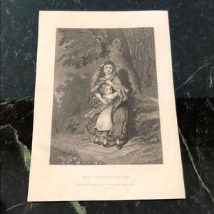 "Antique Engraving THE THUNDER STORM 8.75"" x 6"""